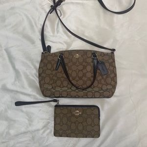 Coach crossbody bag and matching coach wristlet